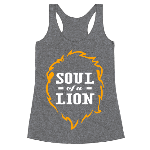 Soul of a Lion (Dark Tank) Racerback Tank Top