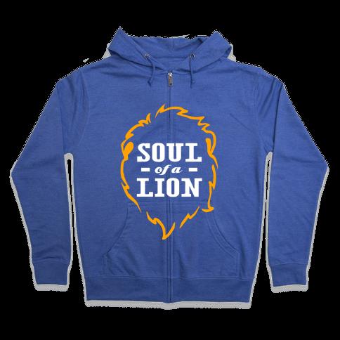 Soul of a Lion (Dark Tank) Zip Hoodie