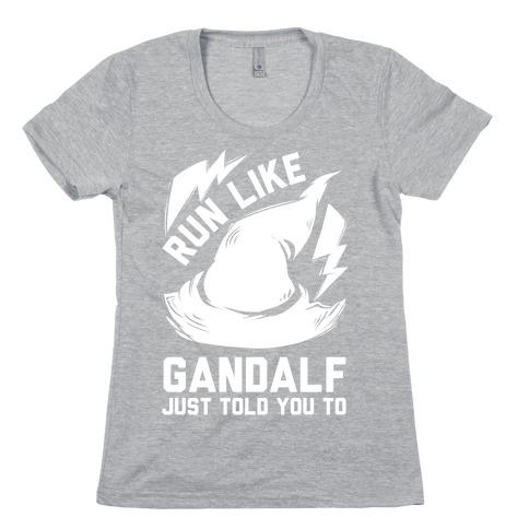 Run Like Gandalf Womens T-Shirt