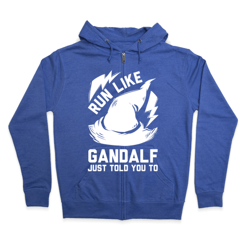 Run Like Gandalf Zip Hoodie