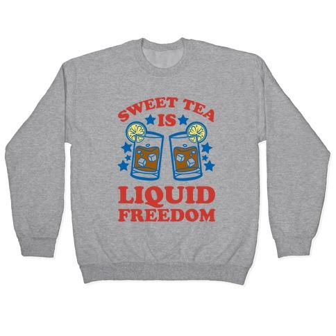 Sweet Tea Is Liquid Freedom (Patriotic Baseball Tee) Pullover