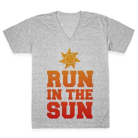 Run In The Sun V-Neck Tee Shirt