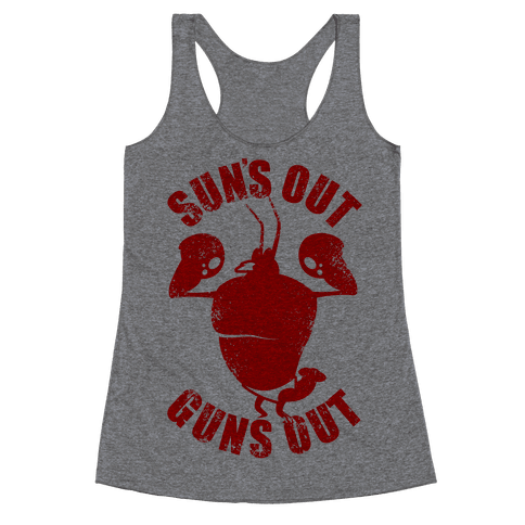 Sun's Out Guns Out Racerback Tank Top