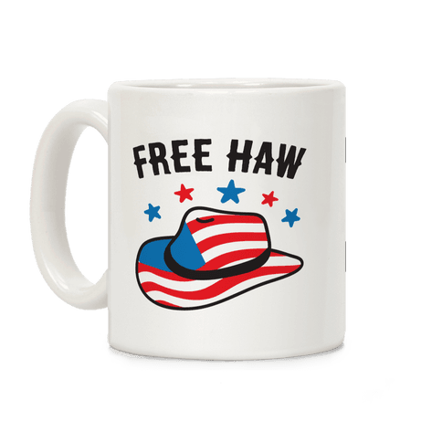 Free Haw Patriotic Cowboy Hat Coffee Mug