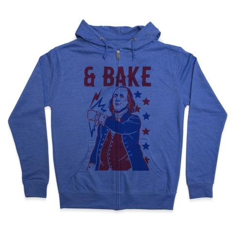 Shake & Bake: Benjamin Franklin Zip Hoodie