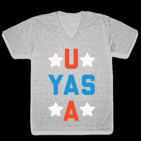 U Yas A V-Neck Tee Shirt