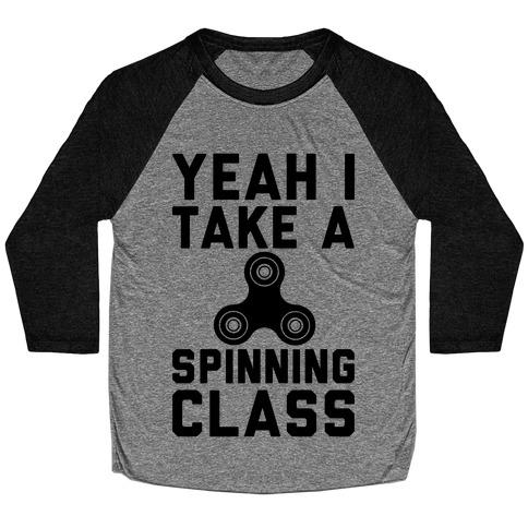 Yeah I Take A Spinning Class Baseball Tee