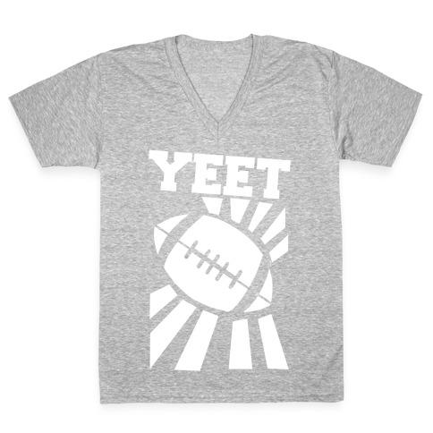 Yeet - Football V-Neck Tee Shirt