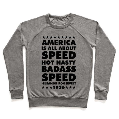 America is All About Speed Pullover