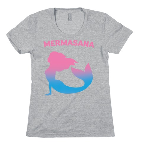 Mermasana Parody Womens T-Shirt