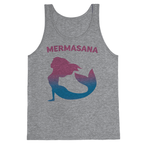 Mermasana Parody Tank Top