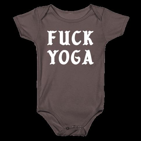 F*** Yoga Baby One-Piece