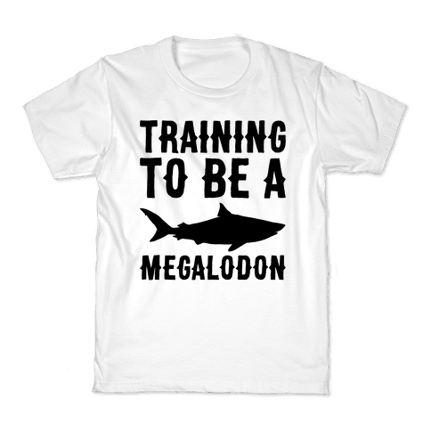 Training To Be A Megalodon Kids T-Shirt