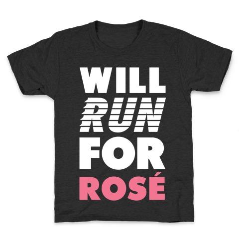 Will Run For Rose Kids T-Shirt