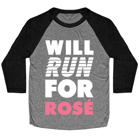 Will Run For Rose Baseball Tee