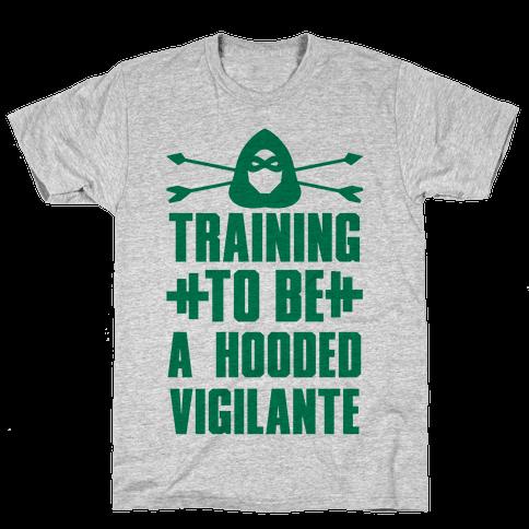 Training to be a Hooded Vigilante Mens T-Shirt