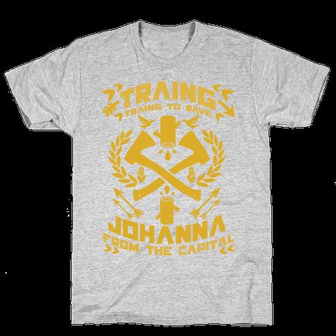 Training to Save Johanna Mens T-Shirt