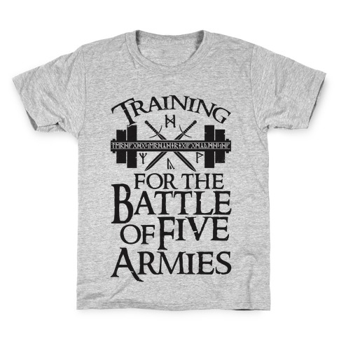 Training For The Battle Of Five Armies Kids T-Shirt