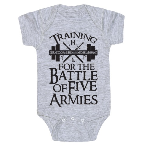 Training For The Battle Of Five Armies Baby Onesy