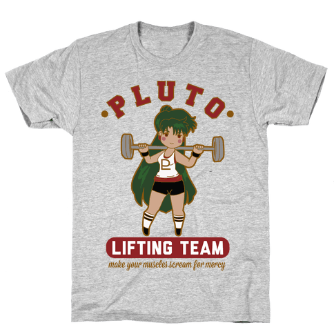 Pluto Lifting Team Mens T-Shirt