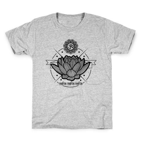 Om Shanti Shanti Shanti Kids T-Shirt