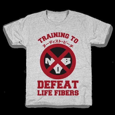 Training To Defeat Life Fibers Kids T-Shirt