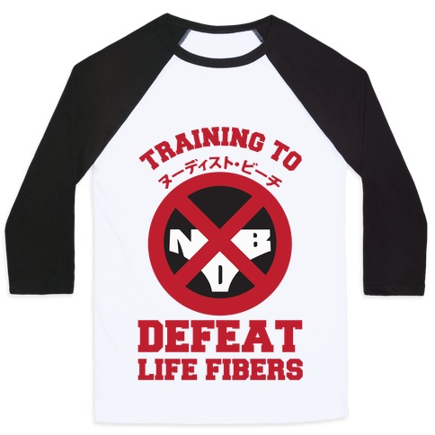 Training To Defeat Life Fibers Baseball Tee