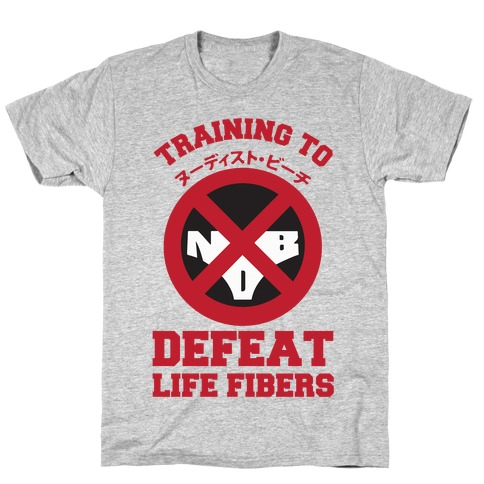 Training To Defeat Life Fibers T-Shirt
