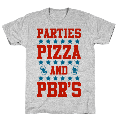 Pizza, Party, and PBR Mens T-Shirt