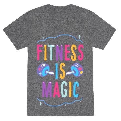 Fitness Is Magic V-Neck Tee Shirt