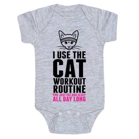 I Use the Cat Workout Routine Baby Onesy