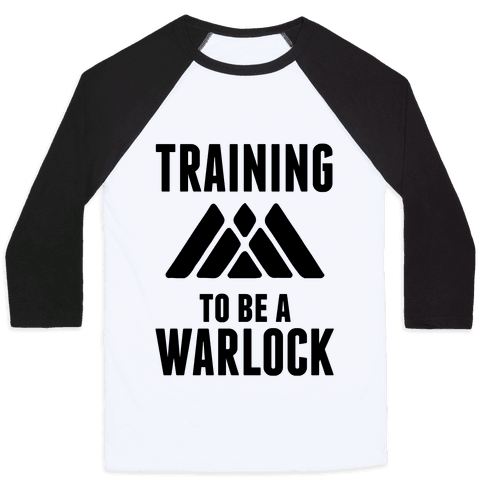 Training To Be A Warlock Baseball Tee