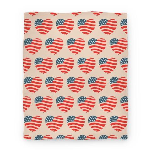American Heart Pattern (Blanket) Blanket