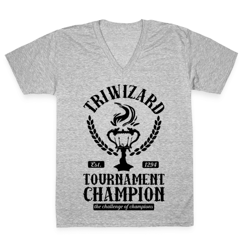 Triwizard Tournament Champion V-Neck Tee Shirt