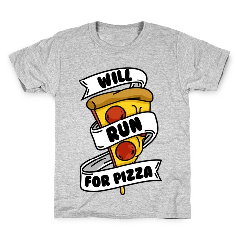 Will Run For Pizza Kids T-Shirt