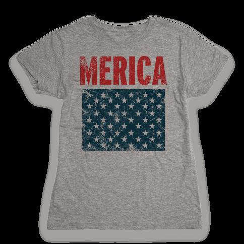 Merica Womens T-Shirt