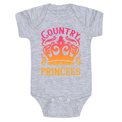 Country Princess Baby Onesy