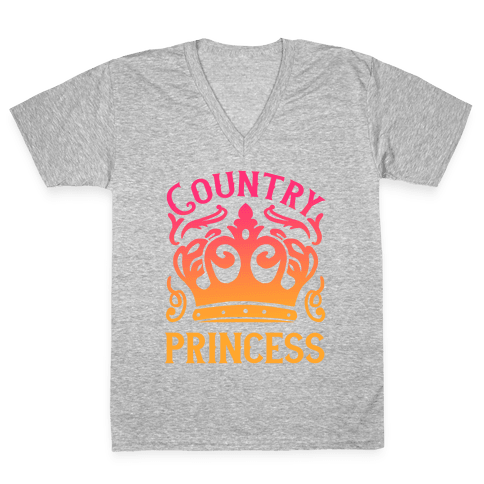 Country Princess V-Neck Tee Shirt