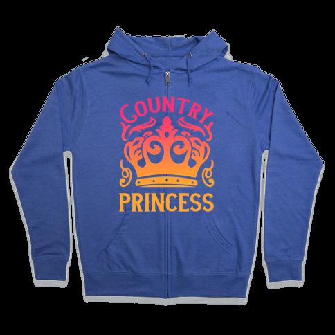 Country Princess Zip Hoodie