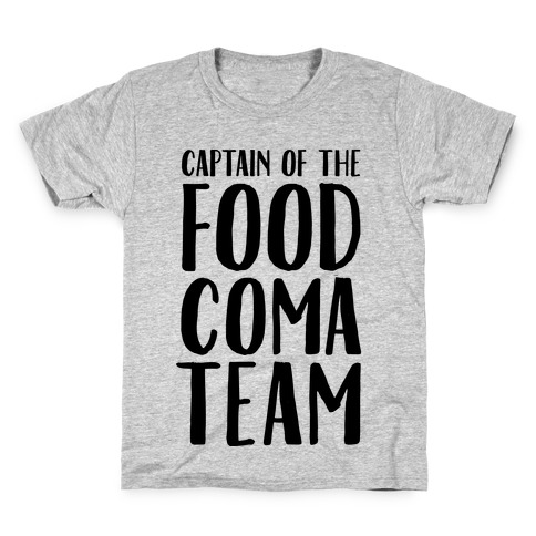Captain of the Food Coma Team Kids T-Shirt