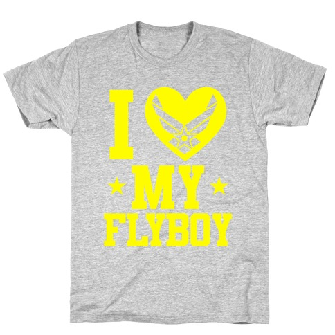 I Love My Flyboy (Air Force Tank) Mens T-Shirt