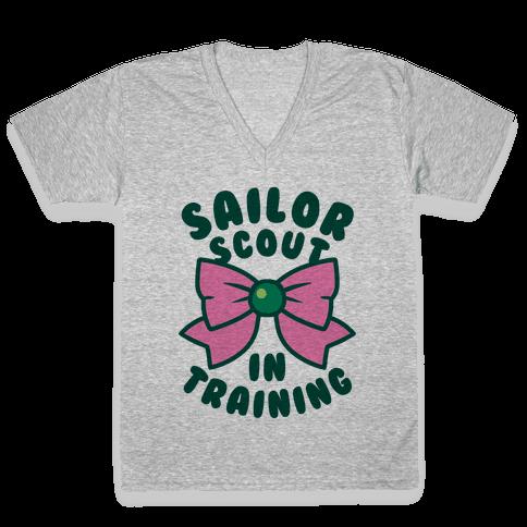 Sailor Scout In Training (Jupiter) V-Neck Tee Shirt