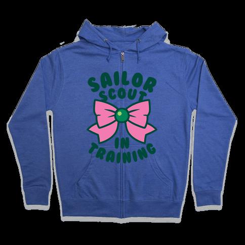 Sailor Scout In Training (Jupiter) Zip Hoodie