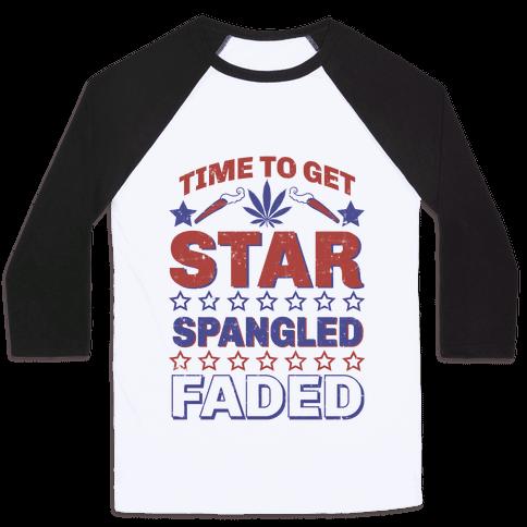Star Spangled Faded Baseball Tee
