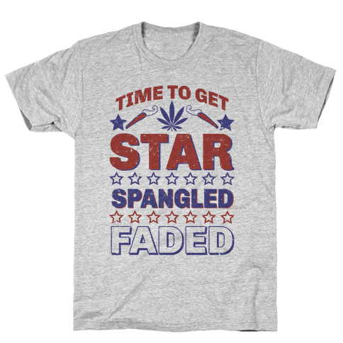 Star Spangled Faded Mens T-Shirt