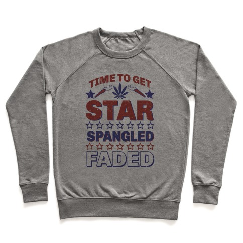 Star Spangled Faded Pullover