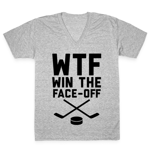 WTF (Win The Face-off) V-Neck Tee Shirt