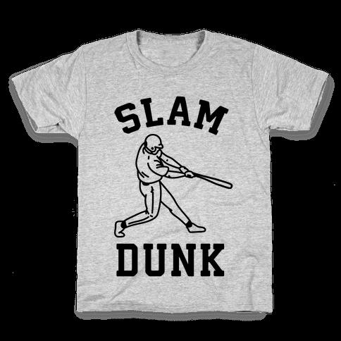 Slam Dunk Baseball Kids T-Shirt