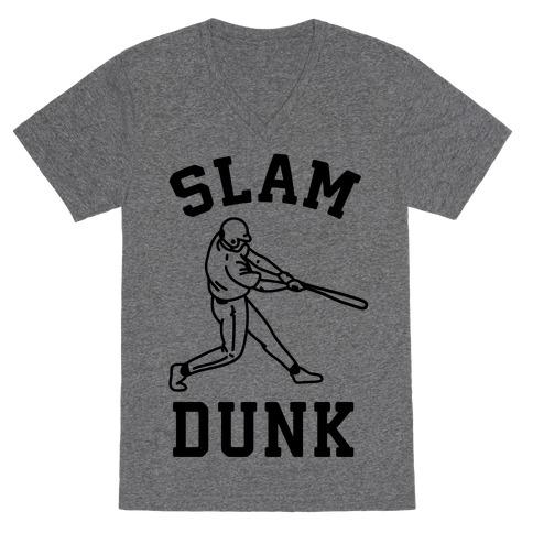 Slam Dunk Baseball V-Neck Tee Shirt