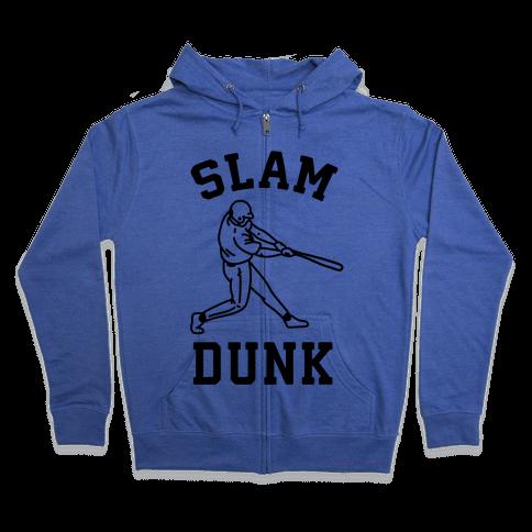 Slam Dunk Baseball Zip Hoodie
